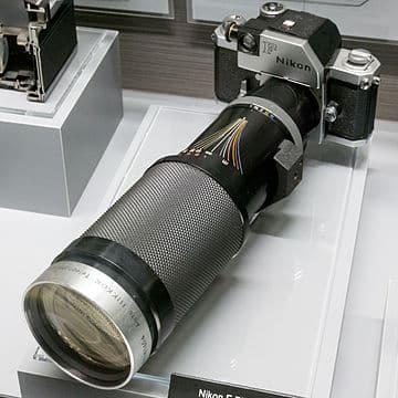 Nikon F with Telephoto Lens