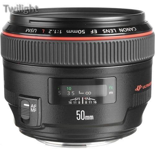 Canon 50 mm f / 1.2 Lens