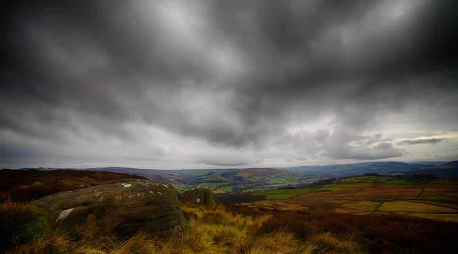 overcast landscape photography