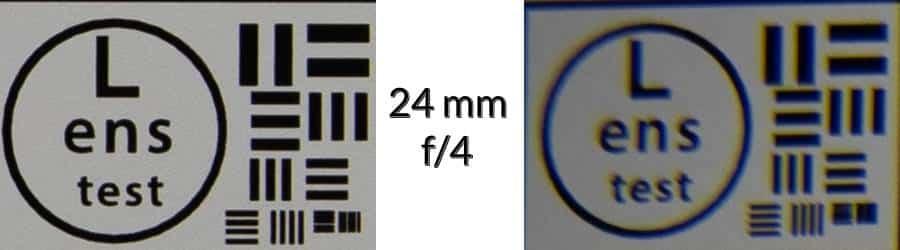 Lens Test - 24 mm: