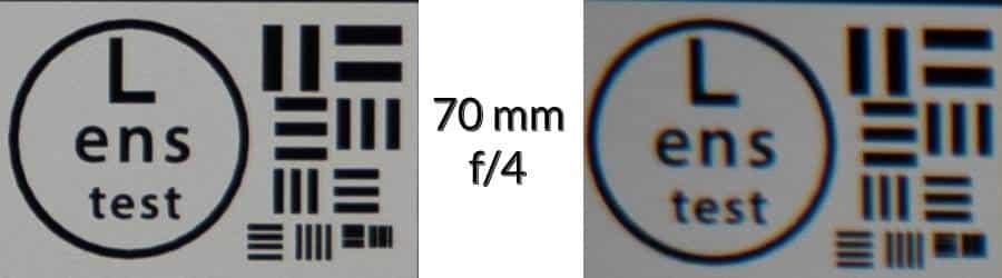 Lens Test - 70mm  f/4