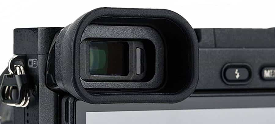 Viewfinder Peephole on the Back of Sony a6300