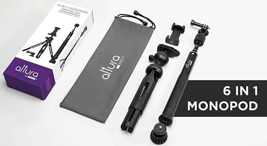 Altura 6 in 1 Monopod Tripod Kit
