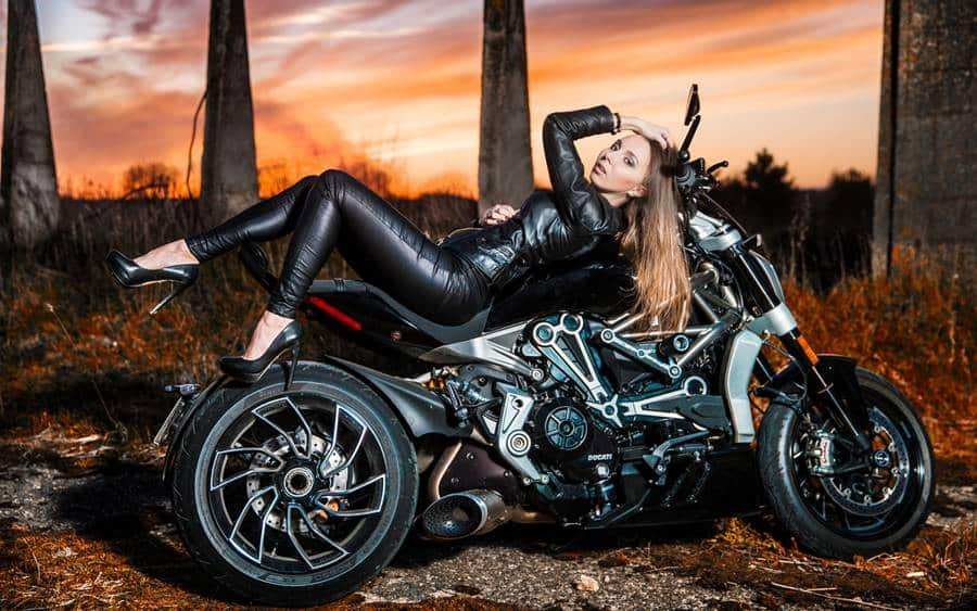 Photo Session with A Motorcycle