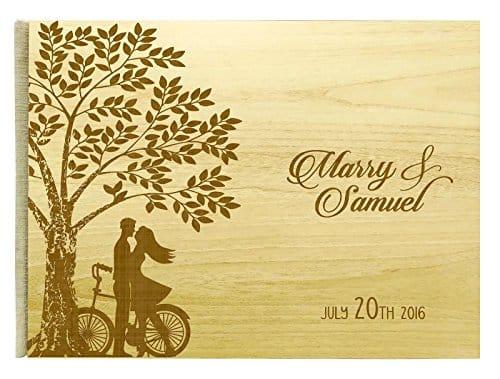 Darling Souvenir Personalized Handmade Guest Book