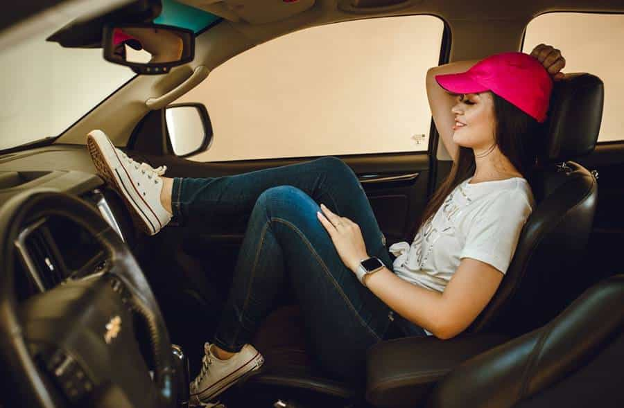 Photoshoot in Car