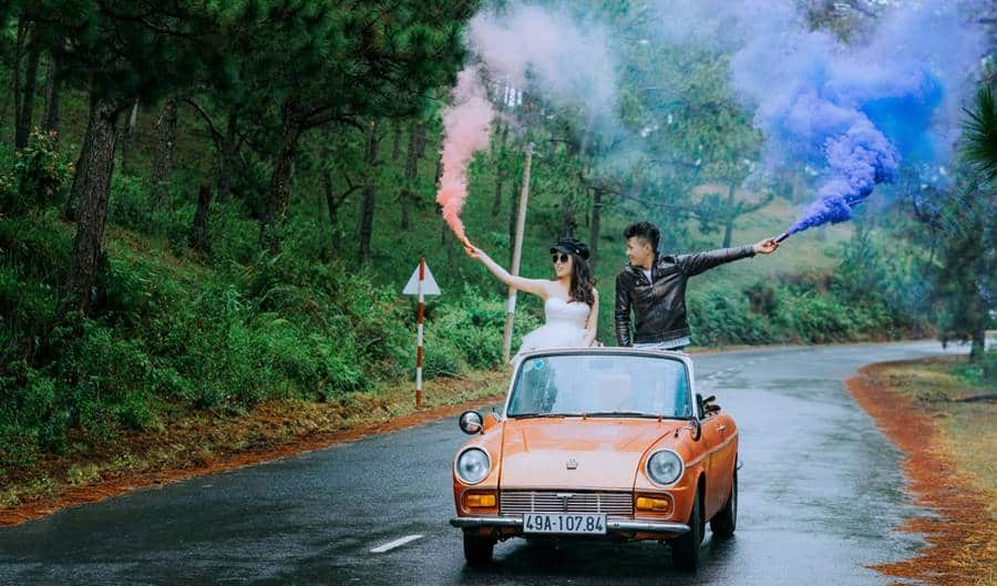 Rules for Using Smoke Bombs in Photoshoot
