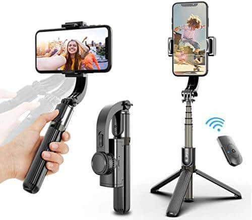 UPMOSTEK 3&1 Selfie Stick Tripod 360° Rotation Selfie Stick Stabilizer