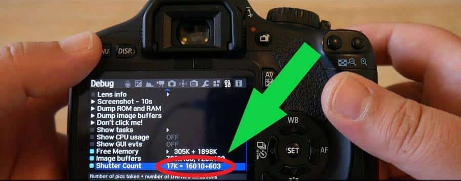 How to Find the Number of Shutter Counts or Triggers of a Camera?