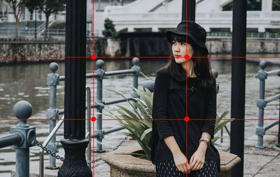 Placing Subject As Per Rule of Thirds