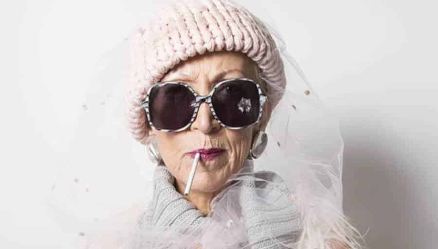 Fashion Photography with Older Woman
