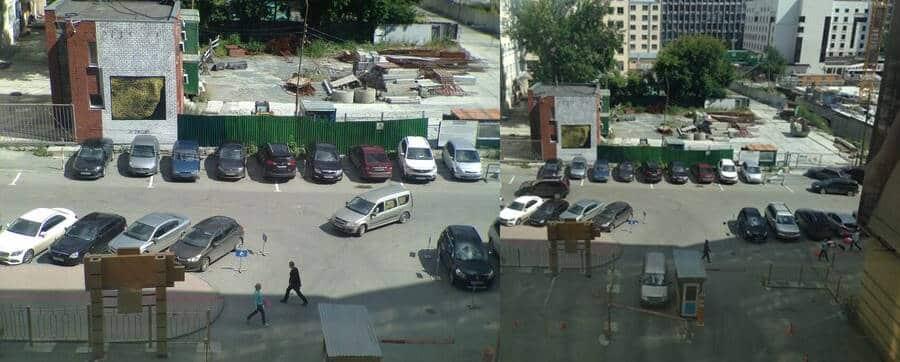 Parking Lot (2 Photos Mixed)
