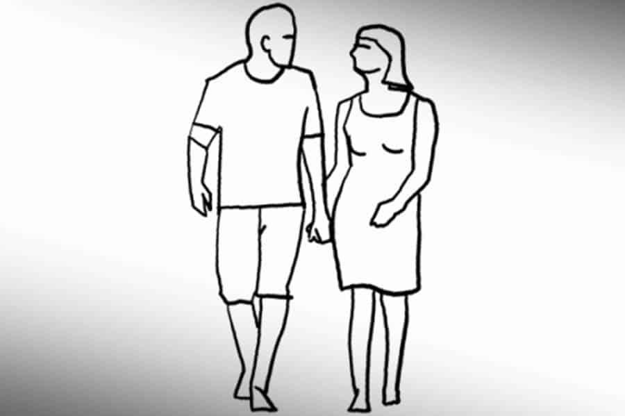 Pose 13: Shooting a walking couple