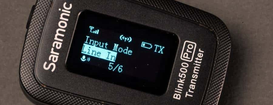Input Mode - Line In