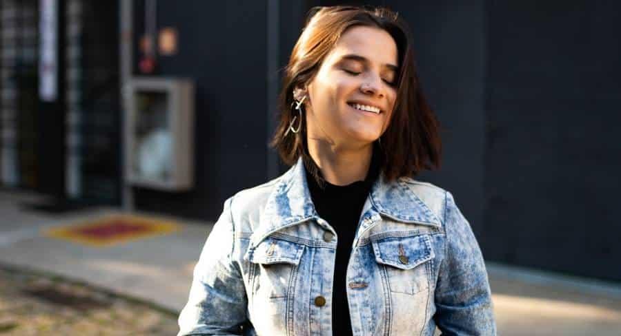 Model Smiling Pose
