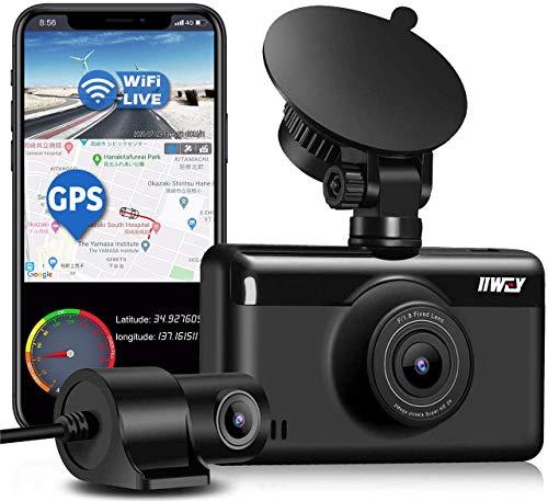Dual Dash Cam 1440P & 1080P (Built-in GPS & WiFi)
