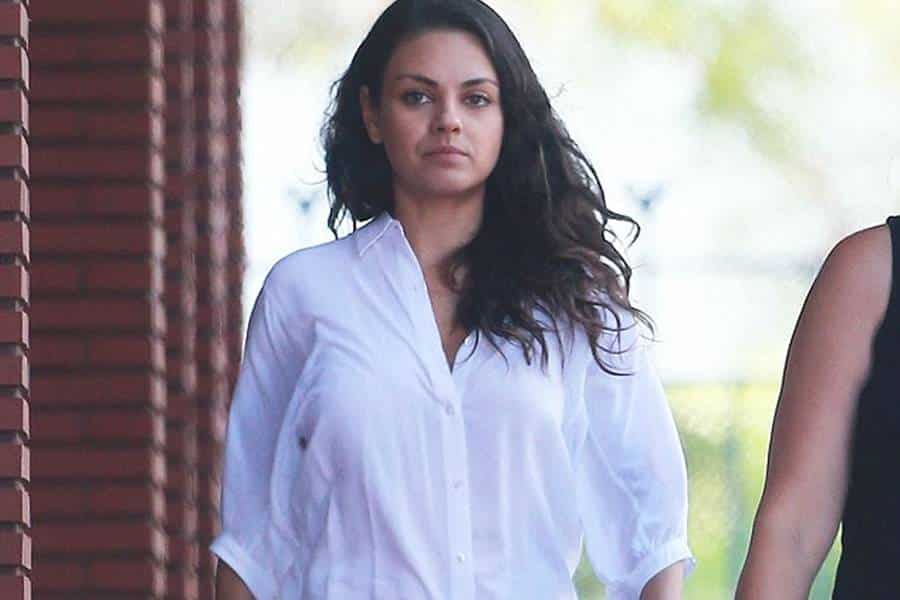 Mila Kunis in White Shirt
