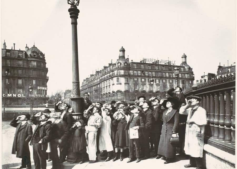 People Watching the Solar Eclipse of 1912