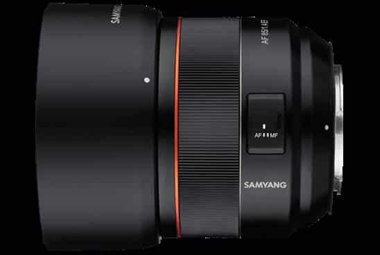 AF/MF Button of Samyang 85mm 1.4 Canon RF Mount Lens