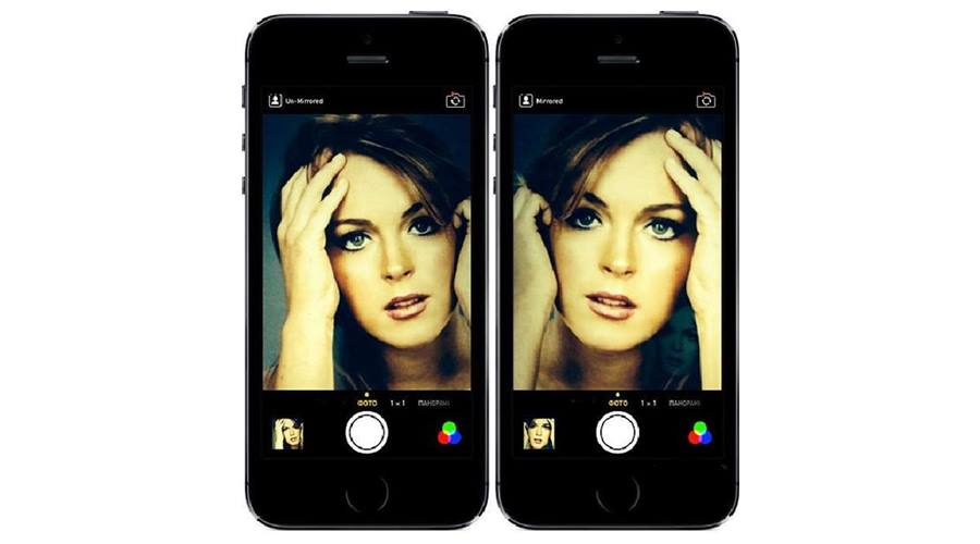 The Mirror Image of Photos on The iPhone