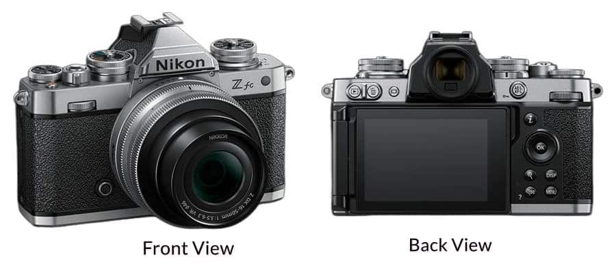 Front and Back View of Nikon Z FC