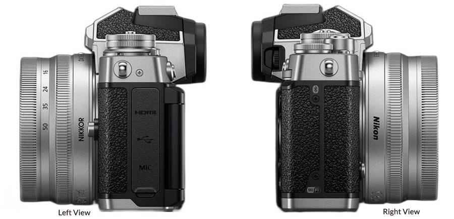 Left and Right View of Nikon Z FC