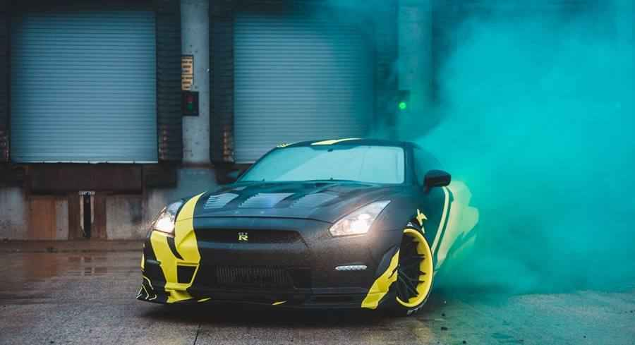 Car Photo Session with Smoke