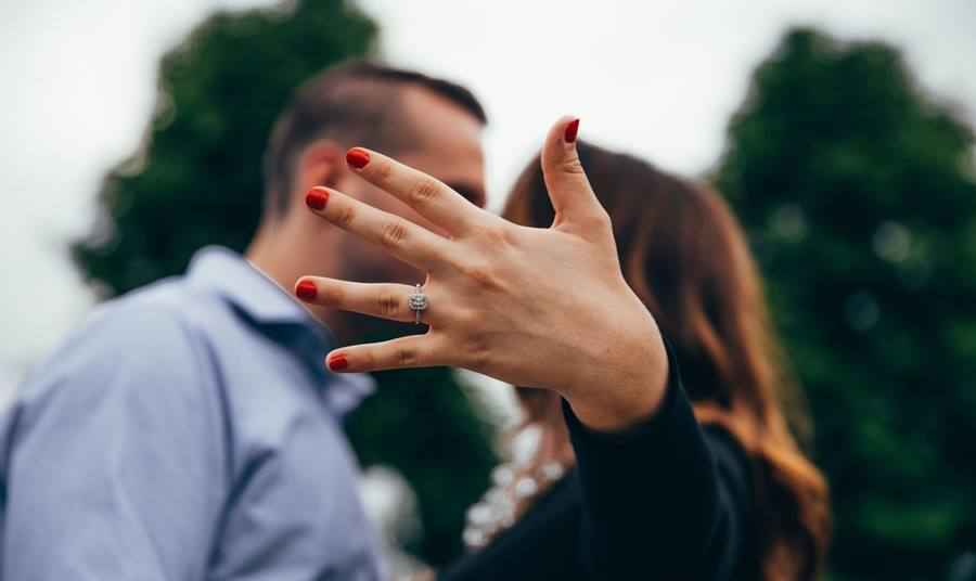 Hands are Busy - Engagement Ring