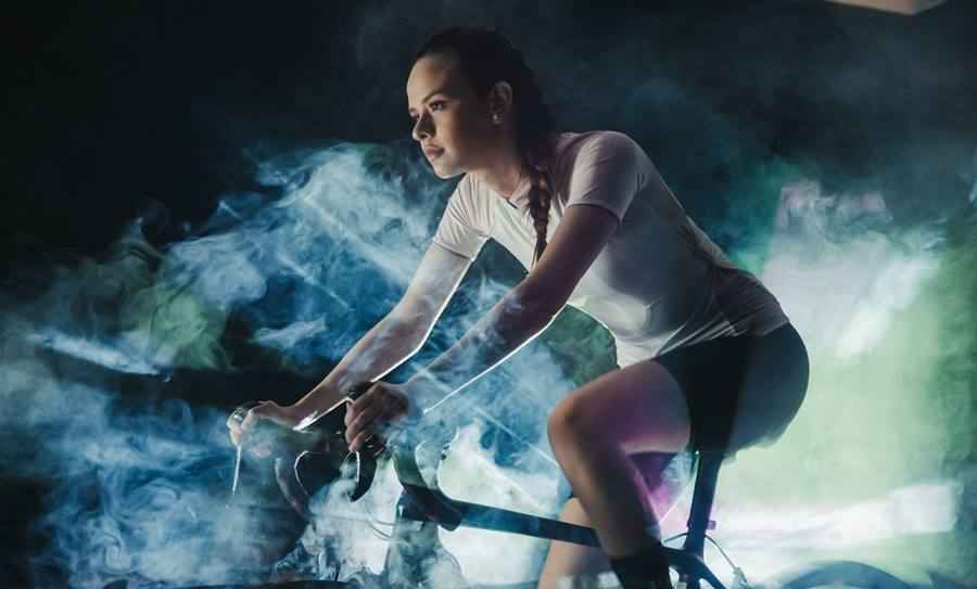 Sports Photo Session with Smoke
